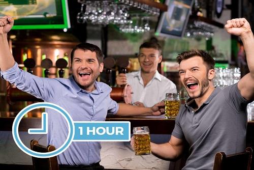 1 Hour Free Bar