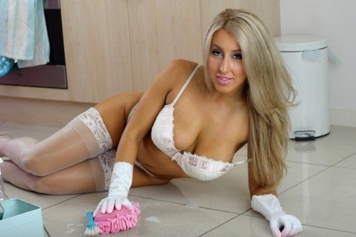 Cleaning Lady Stripper
