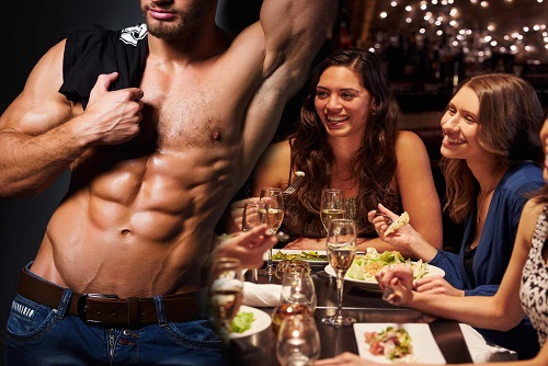 Meal Night With Male Stripper