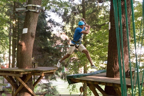 High-ropes with Adrenaline Jump