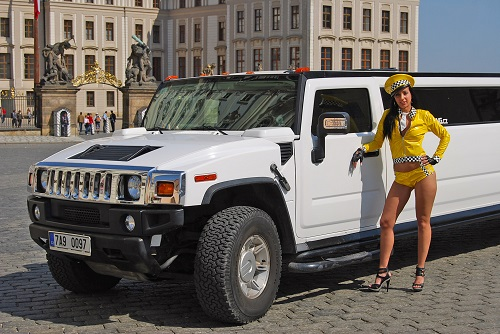 Hummer/Cadillac With Stripper