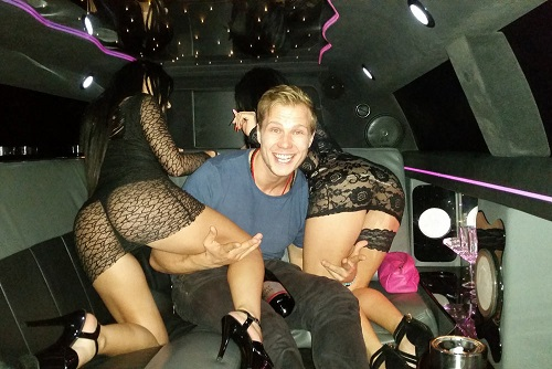 Limo Trip With Strippers