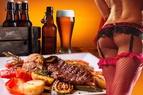 Steak & Female Strip