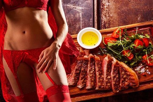 Steak Dinner with Stripper