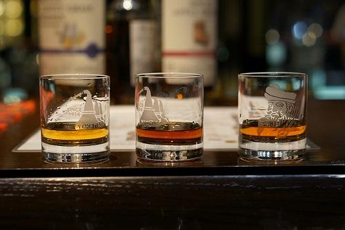 Whiskey Tasting in strip club