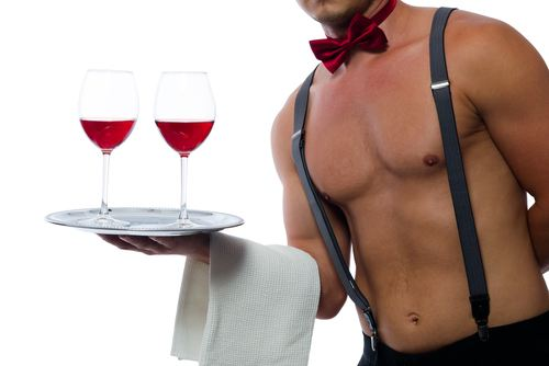 Dinner, Wine With Optional Male Stripper